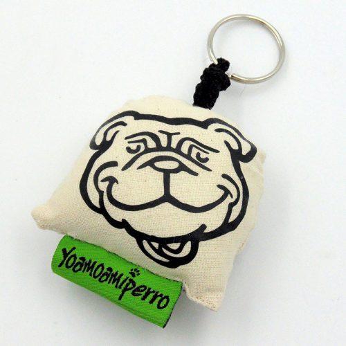 llavero blanco bulldog ingles