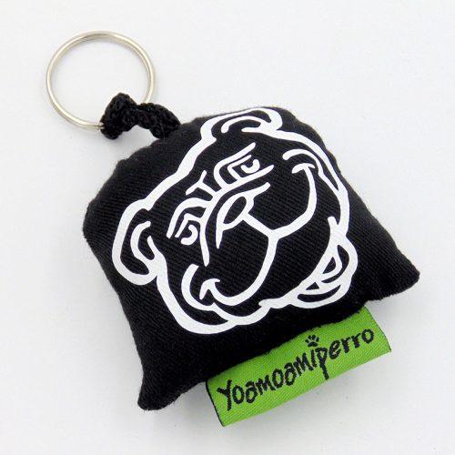 llavero negro bulldog ingles