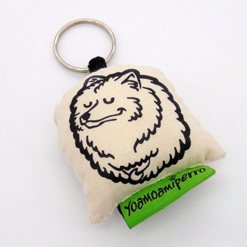 llavero blanco samoyedo